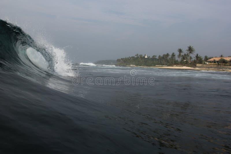波浪的崩溃 库存图片