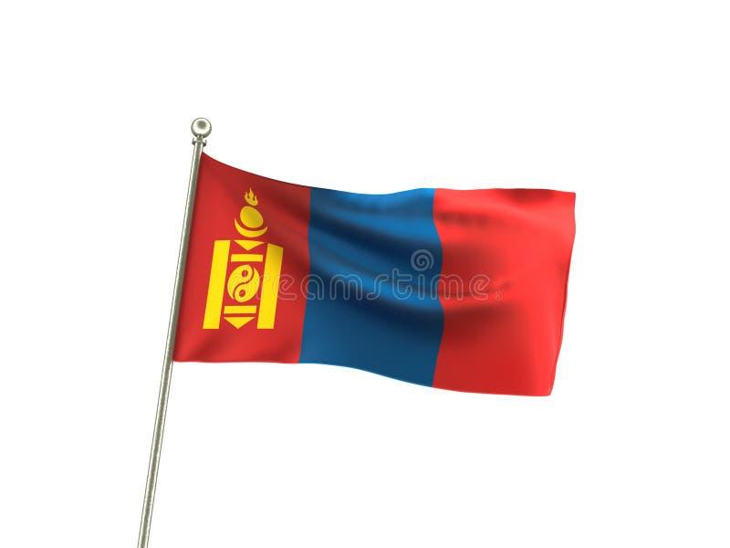 波浪蒙古旗子 皇族释放例证