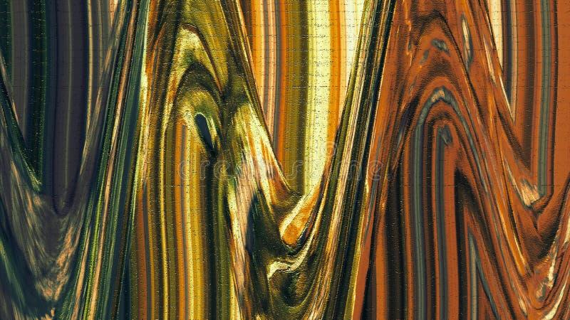 波浪被绘的织地不很细纸 墨迹冲程 背景脏织地不很细 纸土气 厚实的油漆飞溅艺术 向量例证