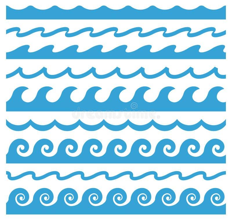波浪装饰品 抽象曲线设计元素 皇族释放例证
