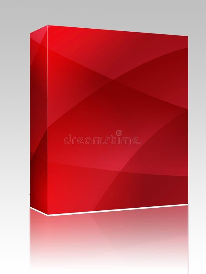 波浪配件箱颜色发光的程序包 库存例证