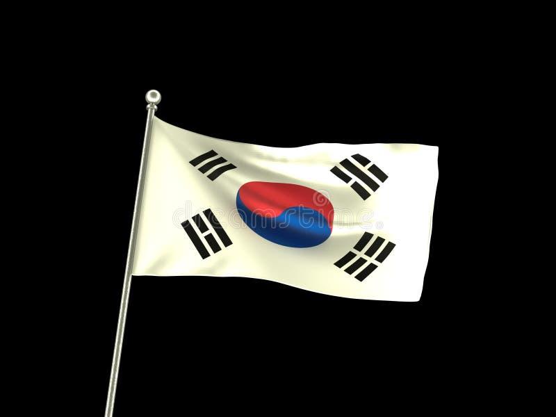 波浪韩国旗子 库存例证