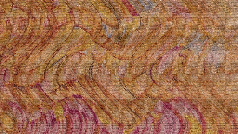 波浪颜色冲程 难看的东西油漆&墨水刷子冲程纹理 在纸的水飞溅 库存照片