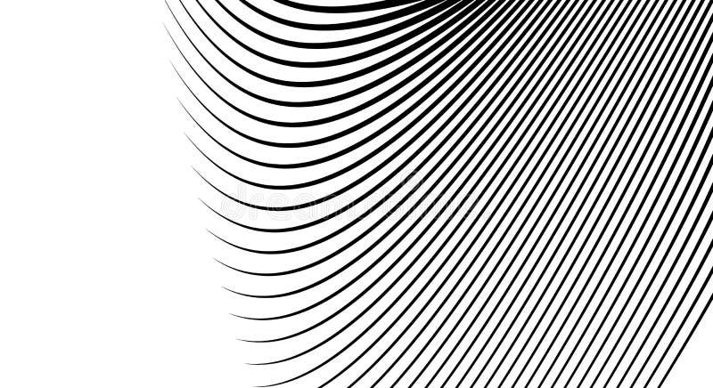 波浪,惊涛骇浪,流线提取样式 挥动的线文本 皇族释放例证