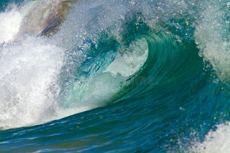 波浪/海浪岸断裂在夏威夷 免版税库存照片