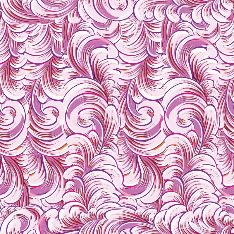 波浪 背景无缝的向量 库存例证