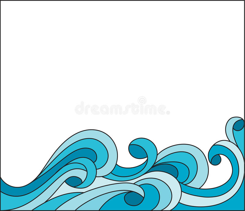 波浪 向量例证