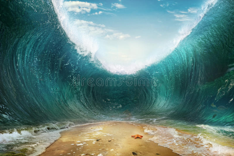 波浪 库存照片