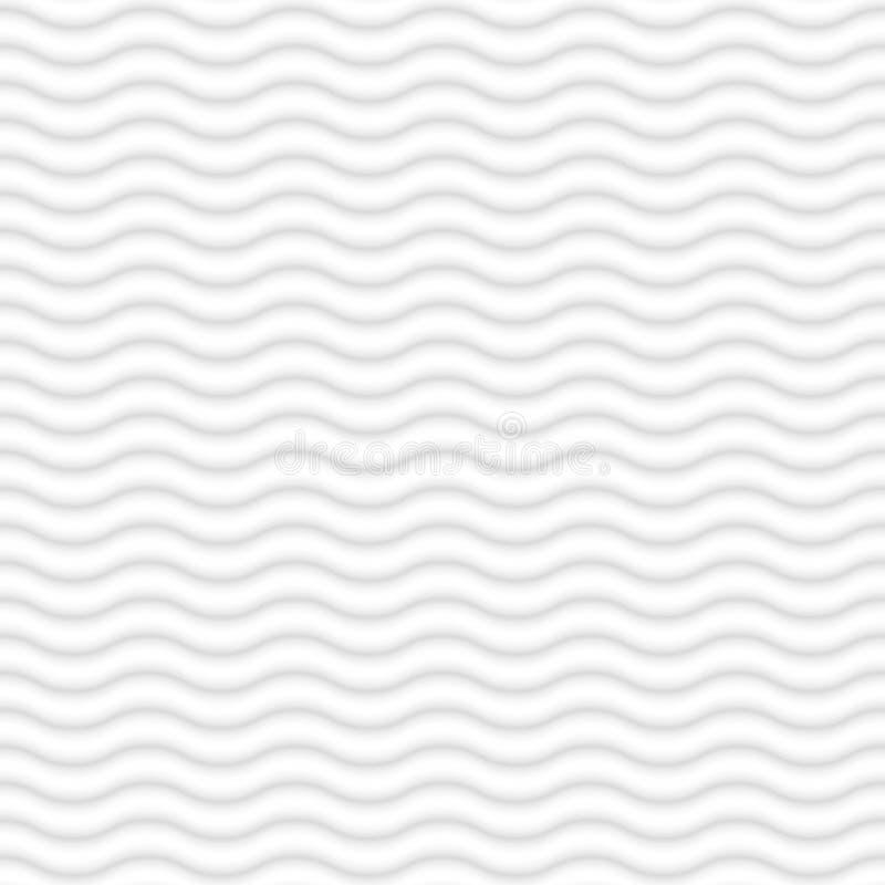波浪blured线无缝的白色背景 向量例证
