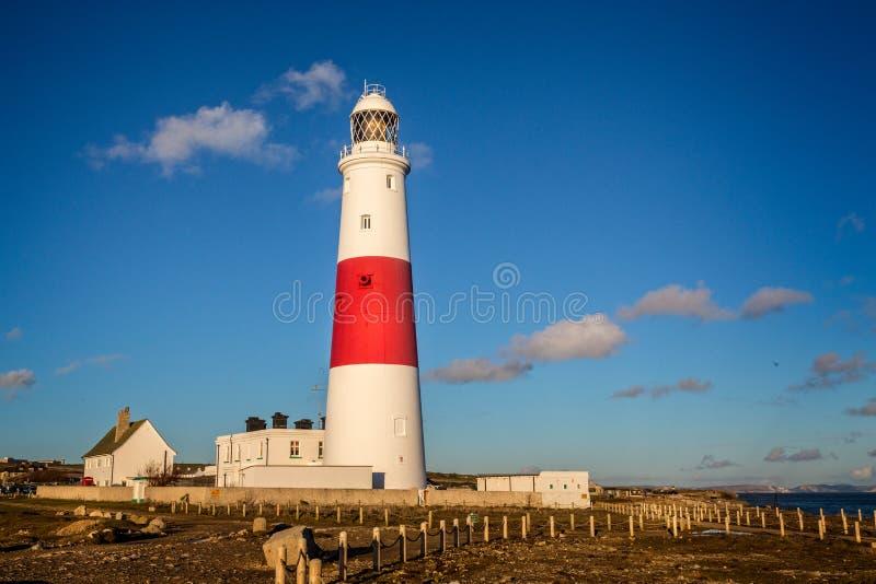 波特兰比尔灯塔被采取在波特兰,多西特,英国 图库摄影