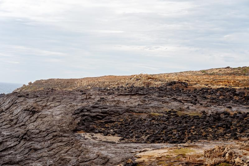 波特兰澳大利亚岩石海岸 免版税库存图片