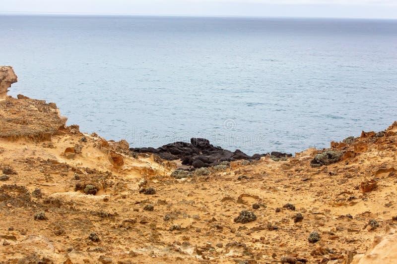 波特兰澳大利亚岩石海岸 免版税图库摄影