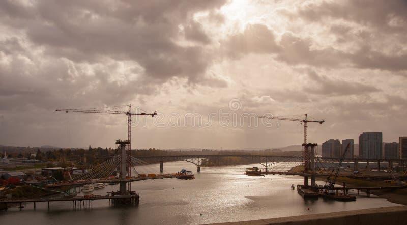 波特兰的最新的运输桥梁 免版税库存照片
