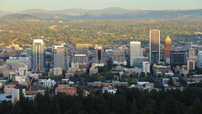 波特兰,俄勒冈看法市中心 免版税库存照片