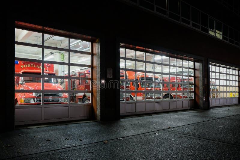 波特兰` s消防局,俄勒冈,美国 免版税库存照片