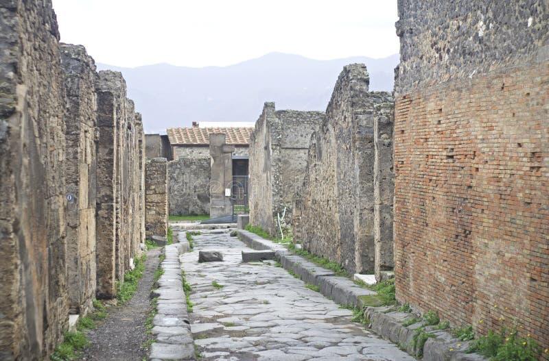 波纳佩古老罗马镇废墟  免版税库存图片