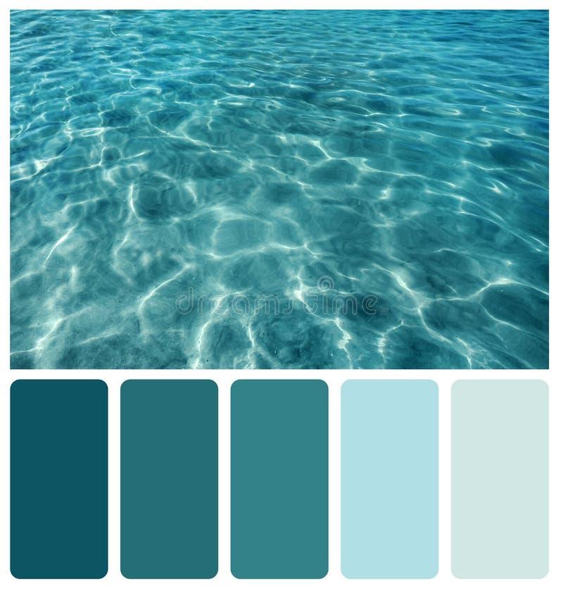 波纹和斑点在海洋水 免版税库存图片