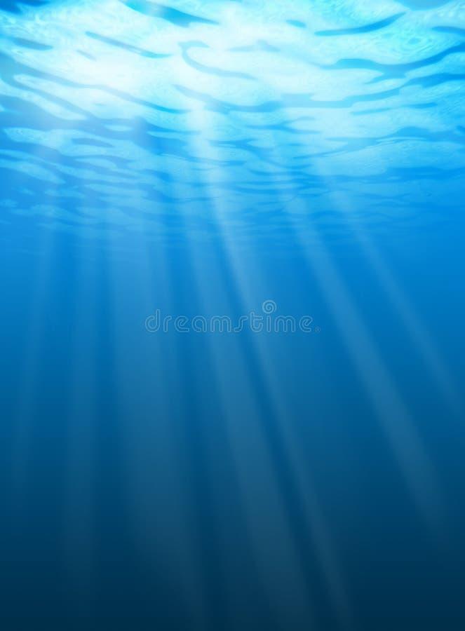 波纹水下的水 库存照片