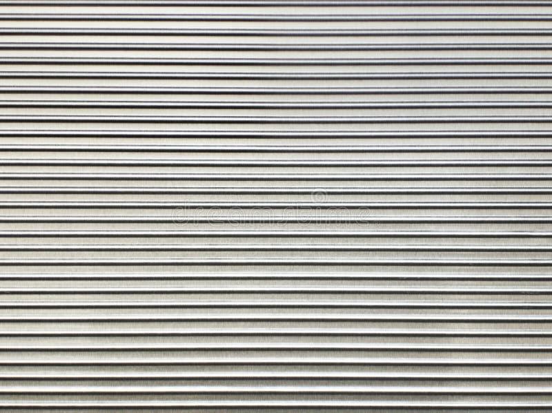 波纹状的模式板钢纹理 免版税库存图片
