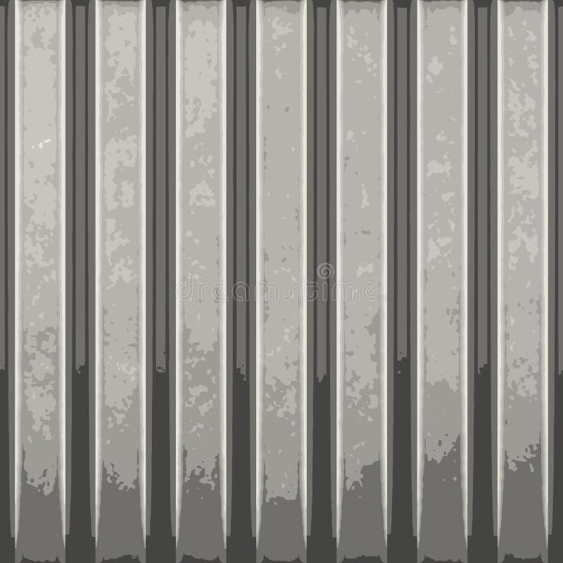 波纹状的金属向量 库存例证