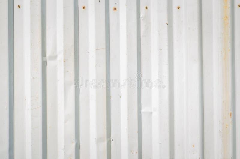 波纹状的金属板 库存图片