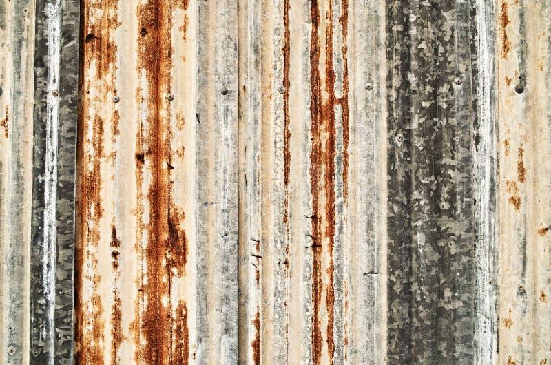 波纹状的grunge金属 库存照片