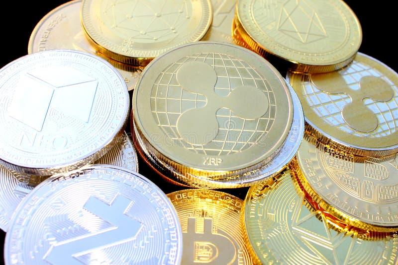 波纹-革命化数字付款的一新的cryptocurrency -与其他隐藏硬币的硬币 免版税图库摄影