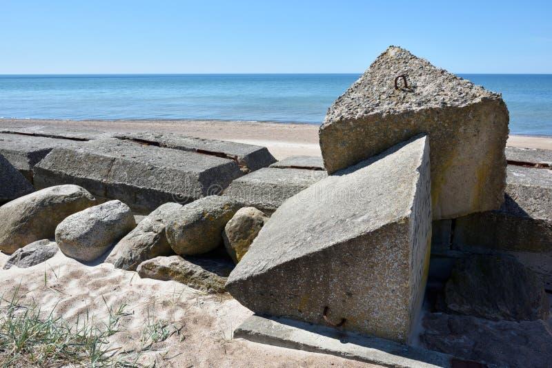 波罗的海的设防废墟 免版税库存图片
