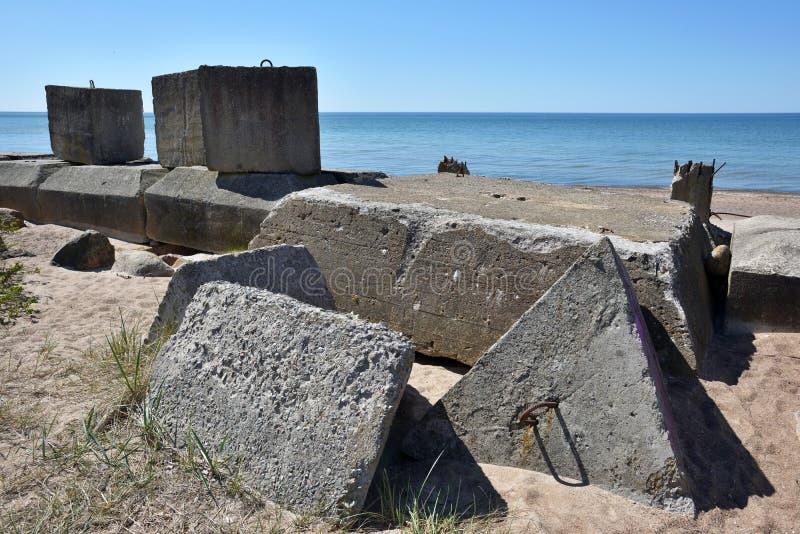 波罗的海的设防废墟 库存图片