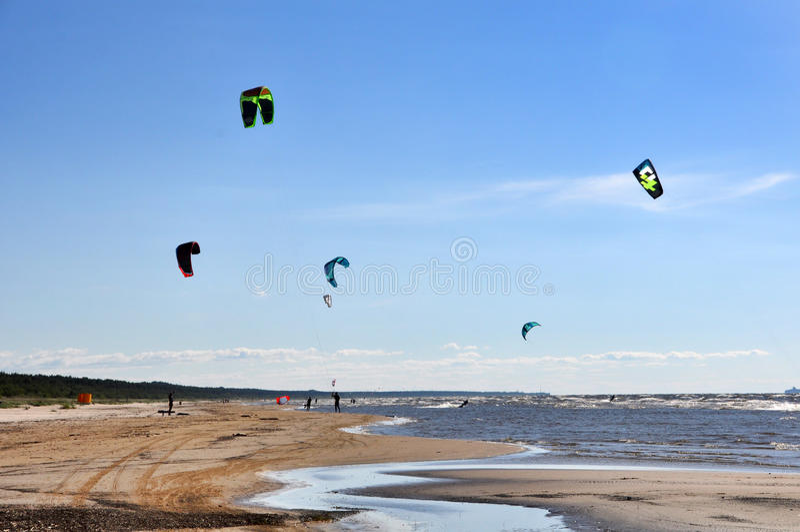 波罗的海, Jurmala,拉脱维亚 免版税库存照片