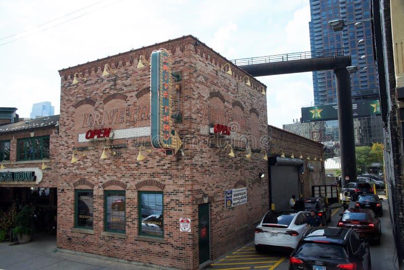 波蒂略的意大利热狗餐馆,芝加哥,伊利诺伊 库存图片