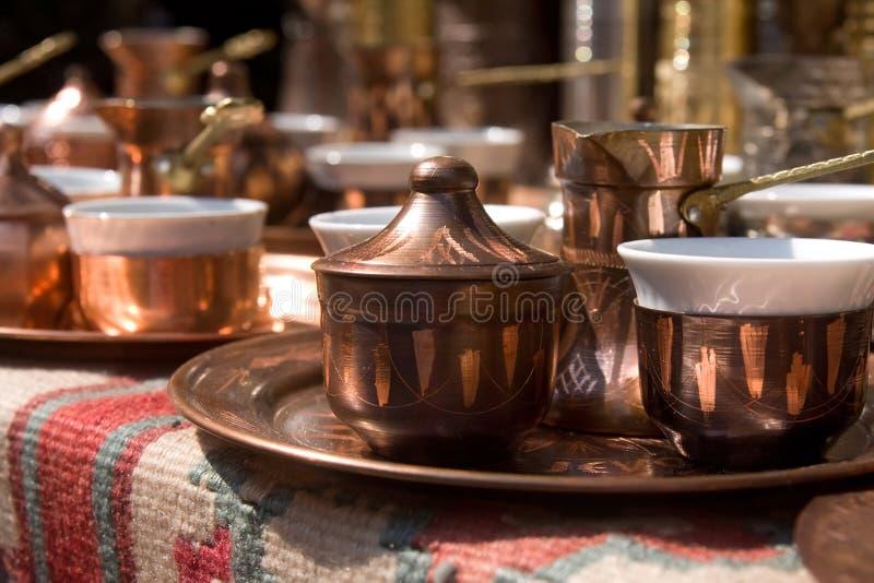 波西尼亚的咖啡具纪念品 免版税库存图片