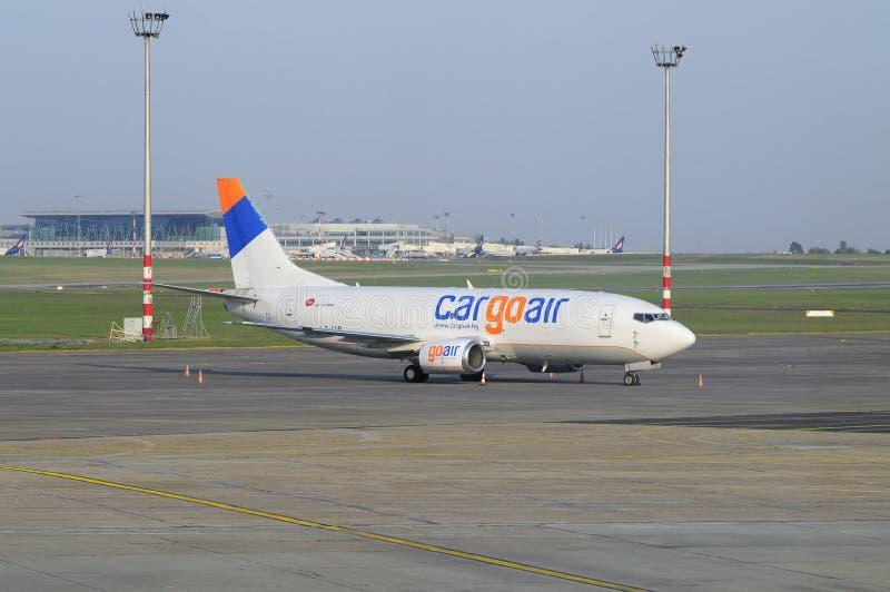 波音准备好cargoair的飞行 库存图片