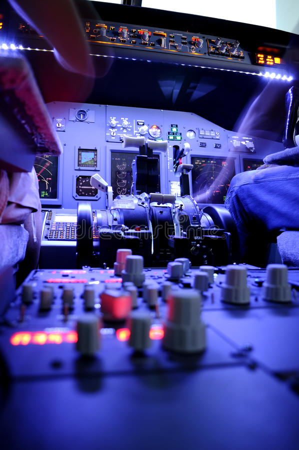 波音驾驶舱 库存照片