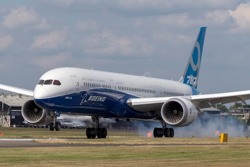 "波音787-9 ""Dreamliner†民航飞机N789EX 图库摄影"