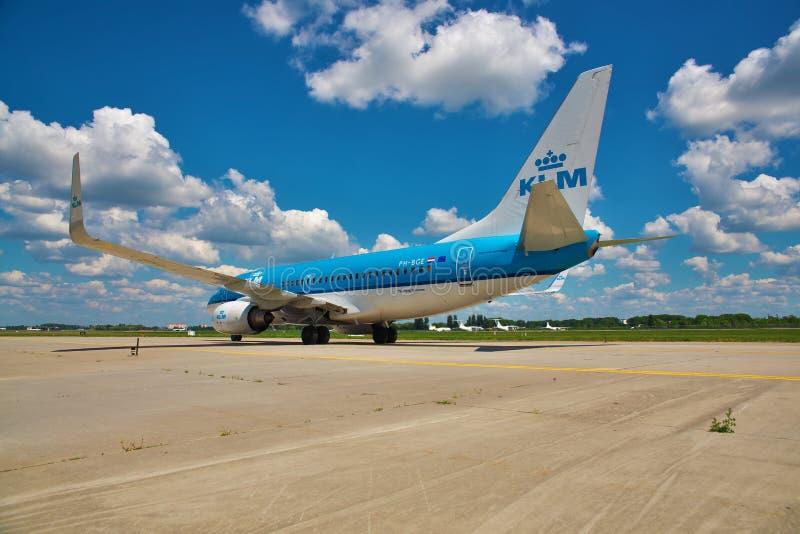 737波音klm 图库摄影
