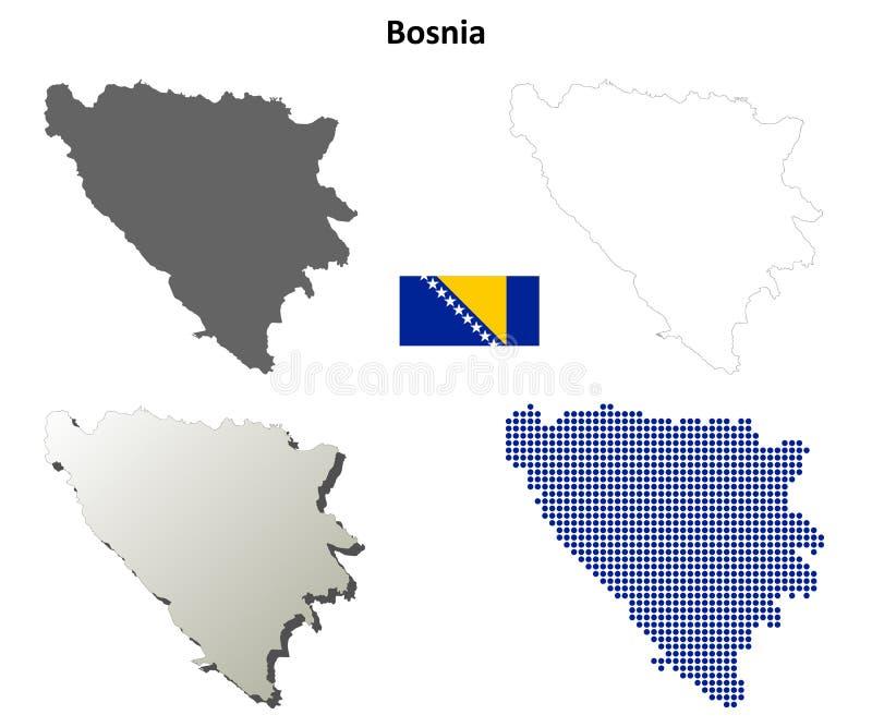 波黑概述地图集合 皇族释放例证