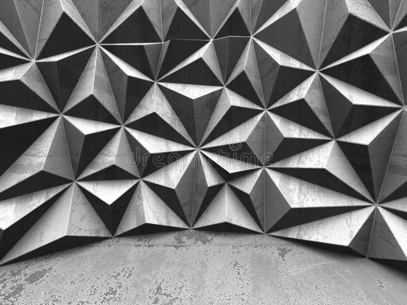 水泥低多样式墙壁 抽象结构背景 皇族释放例证