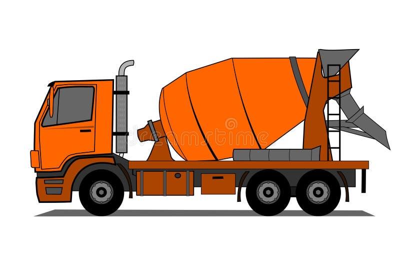 水泥卡车 皇族释放例证