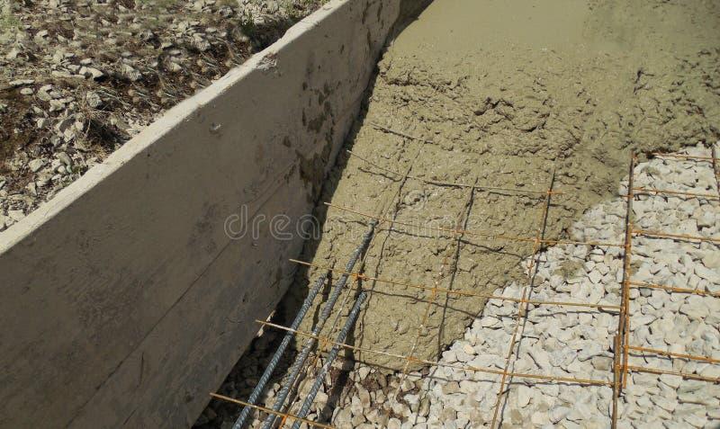 水泥基础 库存照片