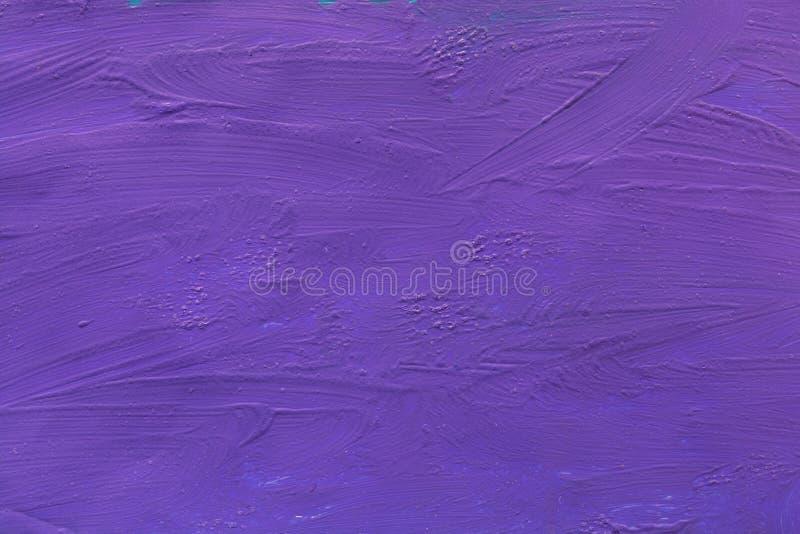 水泥墙壁上色有紫色油漆背景 纹理 库存照片