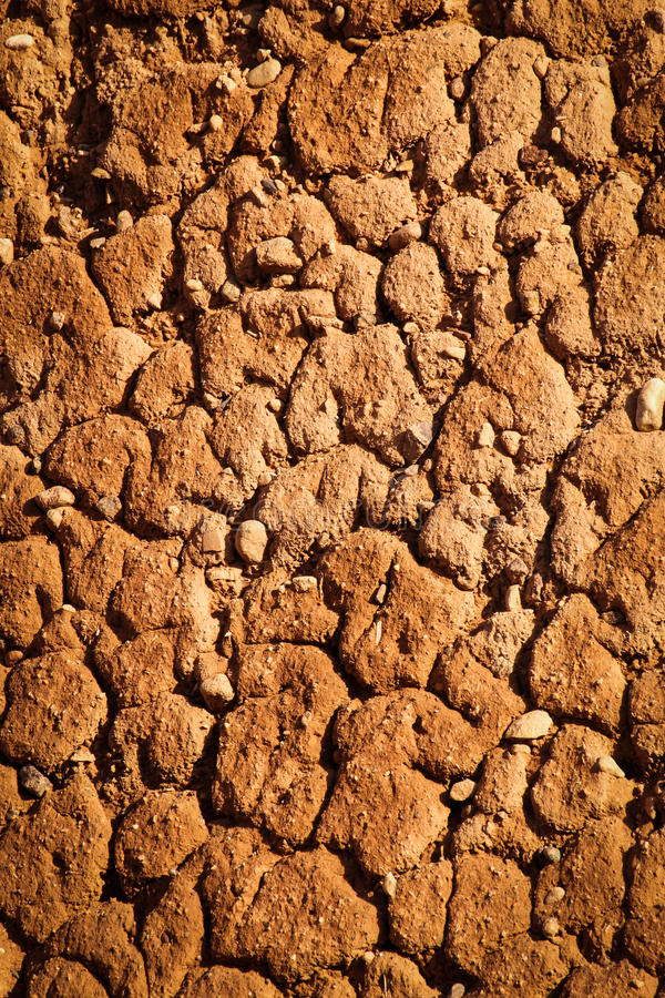 泥墙壁细节 瓦尔扎扎特 摩洛哥 免版税库存图片