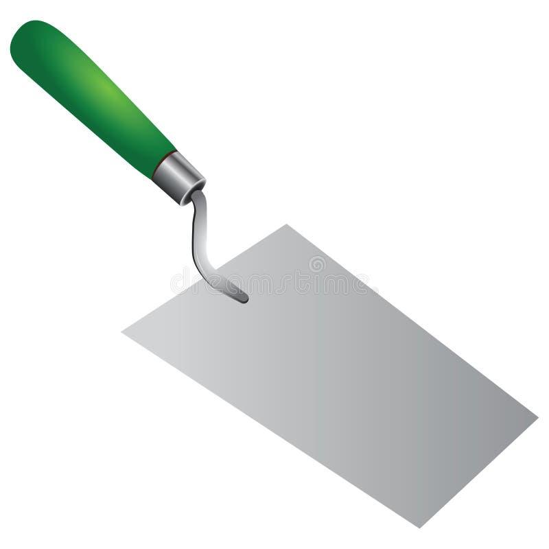 泥工修平刀 向量例证