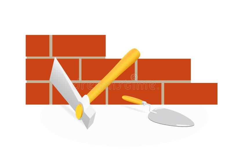泥工工具 向量例证