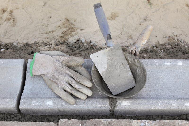泥工设备 库存图片
