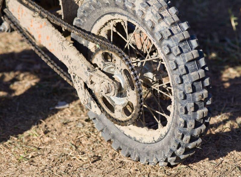 泥摩托车轮胎 库存图片
