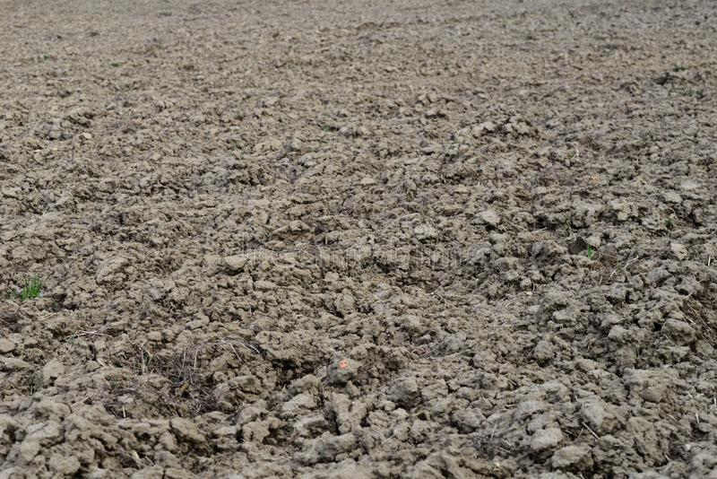 泥泞的土壤领域背景 免版税库存图片