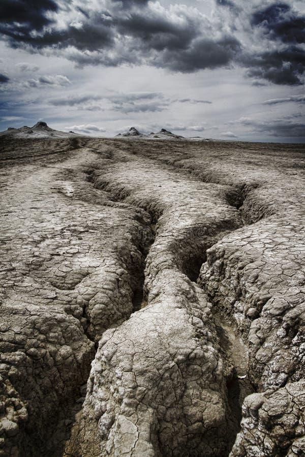 泥泞的火山山 图库摄影