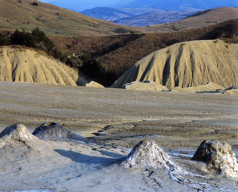 泥泞的火山 免版税图库摄影