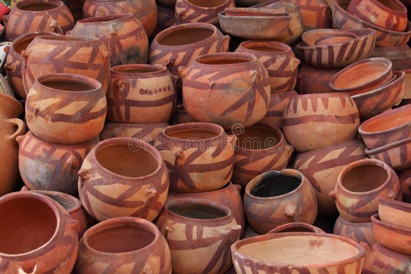 泥罐-也门 库存图片